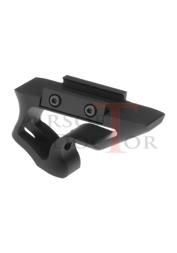 Metal CNC Picatinny Short Angled Grip - Black