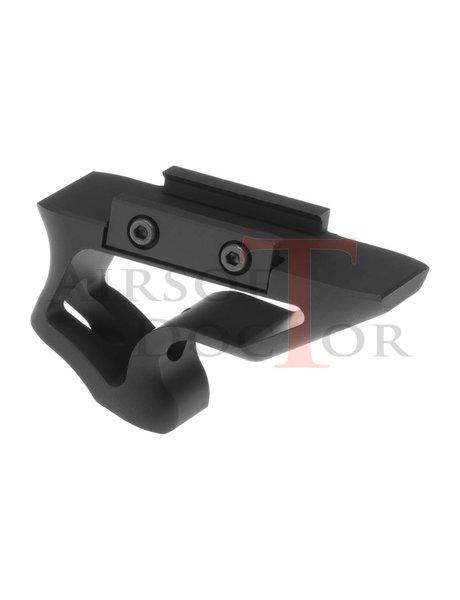 Metal CNC Picatinny Short Angled Grip - Black