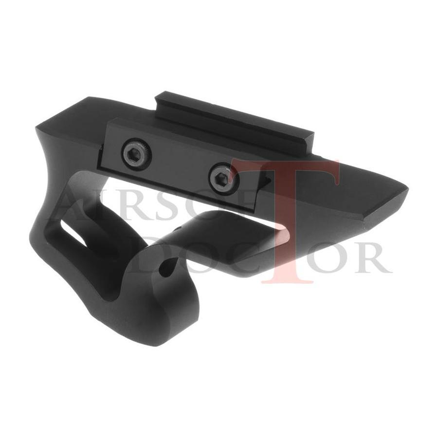 CNC Picatinny Short Angled Grip - Black-1