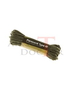 Invader Gear Paracord 550lb Army Green Reflective 50 feet