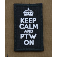 thumb-Patch - Keep calm and PTW on - Black-1