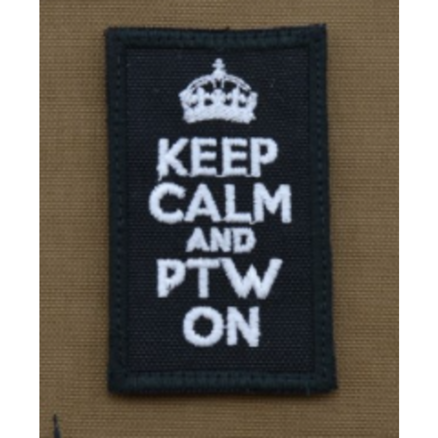 Patch - Keep calm and PTW on - Black-1