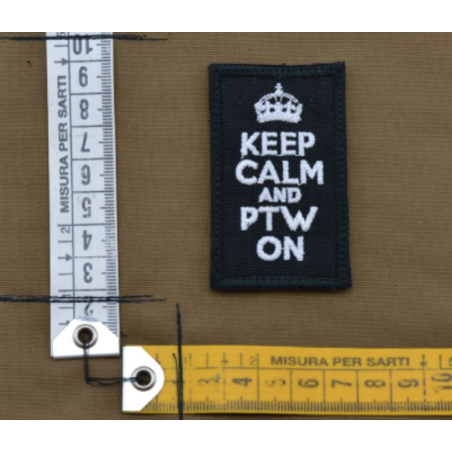 Patch - Keep calm and PTW on - Black-2
