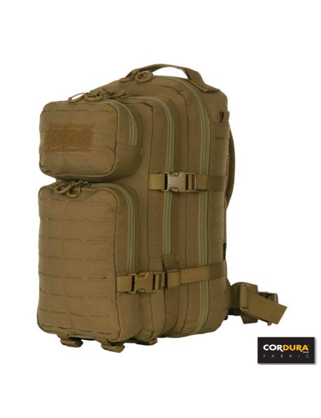 101Inc. Lasercut 1-day Assault Backpack - Tan