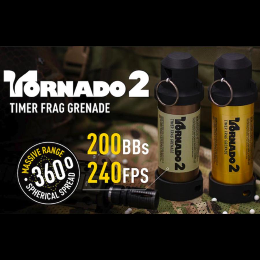 Tornado 2 Timer Frag Grenade - Gold-3