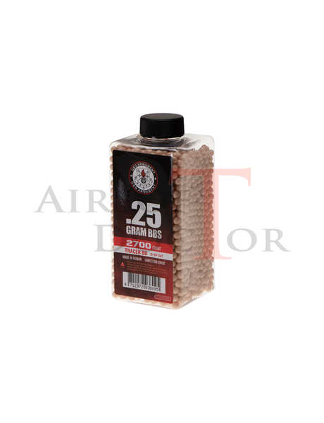 G&G 0.25g Tracer BB 2700rds - Red