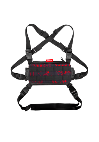 SpeedQB NUCLEUS CHEST RIG (NCR) – RED GLITCH CAMO