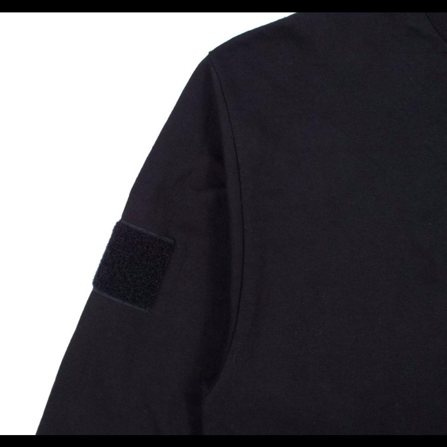BLUE GLITCH CAMO BOX LOGO LS TEE – BLACK-3