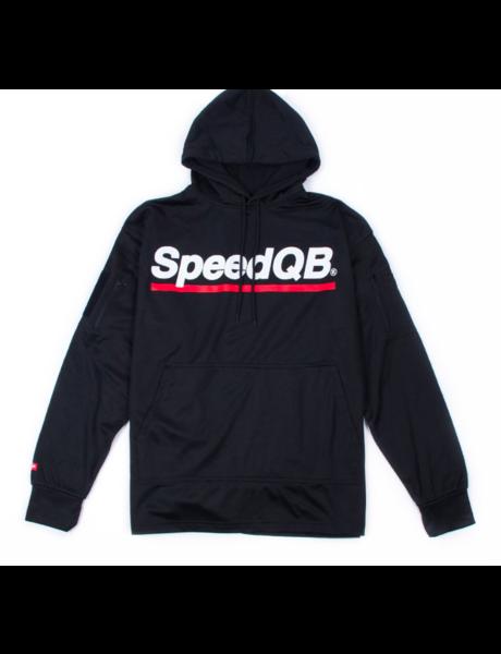 SpeedQB TECH HOODIE - BLACK/RED