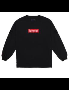 SpeedQB BOX LOGO LONGSLEEVE T-SHIRT – BLACK
