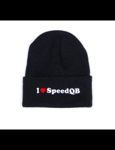SpeedQB I LOVE SPEEDQB – CUFFED BEANIE