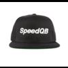 "SpeedQB ""WORDMARK"" 6 PANEL SNAPBACK - BLACK"