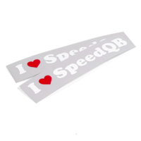 thumb-I LOVE SPEEDQB DECAL – ORIGINAL RED (2)-1