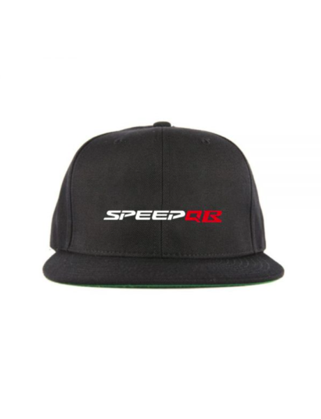 SpeedQB R type 6 panel Snapback - Black