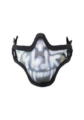 WEEU Nuprol Mesh Lower Face Shield V1 - Skull Black
