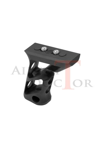Metal CNC Keymod Long Angled Grip - Black