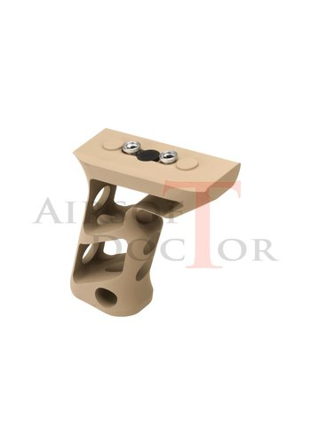 Metal CNC Keymod Long Angled Grip - Tan
