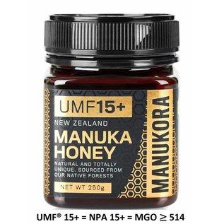 Manuka Honing / Honig - MANUKORA MANUKA HONING UMF® 15+ MANUKORA / 250g MANUKA-HONING / MGO ≥ 514