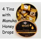 Manuka Honing / Honig - BEE NATURAL MANUKA-HONIG BONBONS mit MGO® 300+ MANUKA-HONIG / 4x 100g