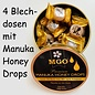 Manuka Honing / Honig - BEE NATURAL MĀNUKA-HONEY LOZENGES / 4x 100g MGO® 300+ MĀNUKA HONEY LOZENGES