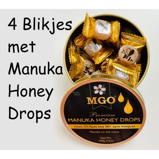 Manuka Honing / Honig - BeeNatural MANUKA-HONING PASTILLES / 4x 100g MGO® 300+ ManukaHoning Pastilles