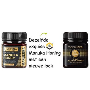 Manuka Honing / Honig - MANUKORA MANUKA HONING UMF® 15+ (= MGO ≥ 514) / 250g MANUKA-HONING MANUKORA