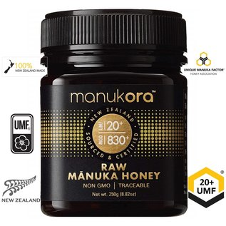 Manuka Honing / Honig - MANUKORA MANUKA-HONIG UMF® 20+ MANUKORA / 250g MANUKA-HONIG / MGO ≥ 829