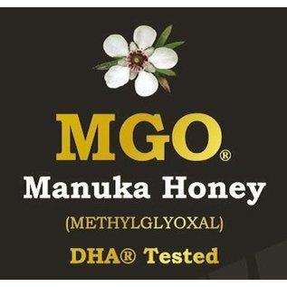 Manuka Honing / Honig - BeeNatural MANUKA-HONIG MGO® 600+ / 250gr. MGO® - IN EINEM ECHTGLAS GLAS