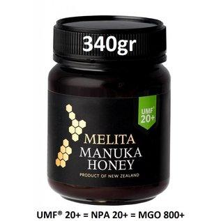 Manuka Honing / Honig - MELITA MANUKA-HONIG UMF® 20+ (= MGO ≥ 829) MELITA / 340g MANUKA-HONIG