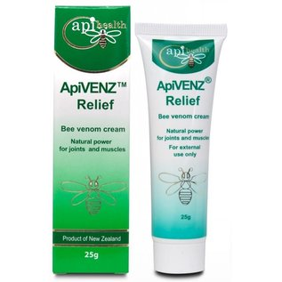 Manuka Honing / Honig - API HEALTH ApiVENZ™ Relief cream with Bee venom / 25g