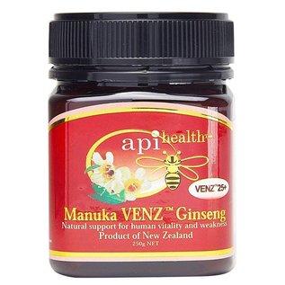 Manuka Honing / Honig - API HEALTH Manuka VENZ™ 25+ Ginseng Manuka-Honey with Ginseng & Bee Venom VENZ™