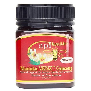 Manuka Honing / Honig - ApiHealth Manuka VENZ™ 25+ Ginseng Manuka-Honing met Ginseng & VENZ™ Bijengif