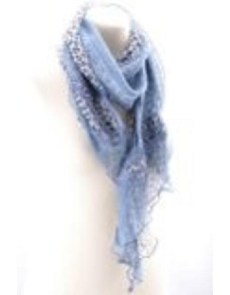 Blauwe sjaal met panter print