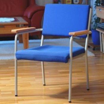 Stuhl Conti3 bis zu 300kg, Sitz 61x52xSitzhöhe 44-50 cm, mit Armlehnen