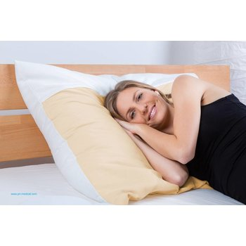 XXL Bettwaren - Sondermaß & Übergröße Polsterbezug Feinflanell aus 100% Baumwolle mit Paspel quer