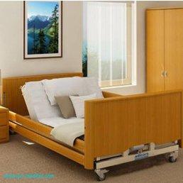 Schwerlastbett Home Relax 350 extra niedrig- Niederflur Adipositasbett - für maximales Körpergewicht von 318kg
