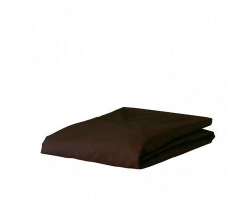 Premium Percal hoeslaken 80x200 cm / Chocolade