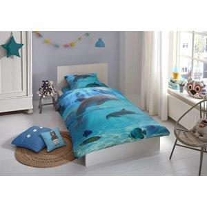 Good Morning Kinder dekbedovertrek Dolfijnen 140x220 cm