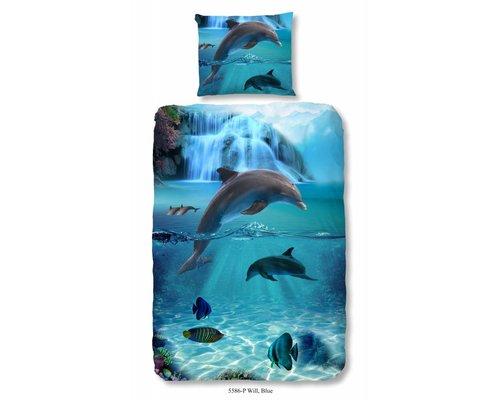 Good Morning Dekbedovertrek Dolfijnen 140x220 cm