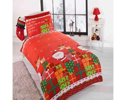 Kidz Dekbedovertrek Dear Santa 120x150 cm