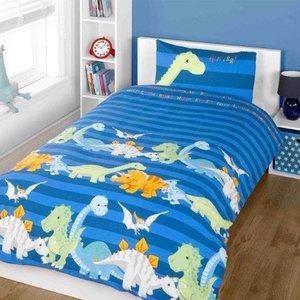 Decoware Dekbedovertrek Baby Dino's  blauw 140x200 cm