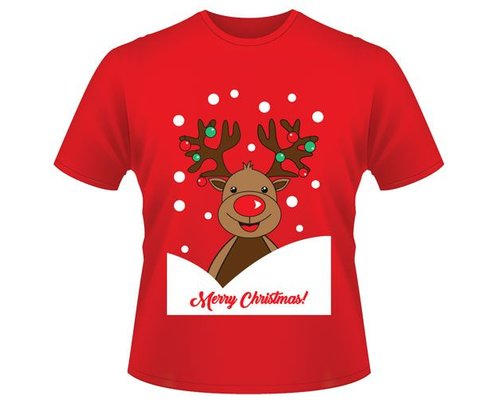 Decoware Kerst T-shirt Rendier