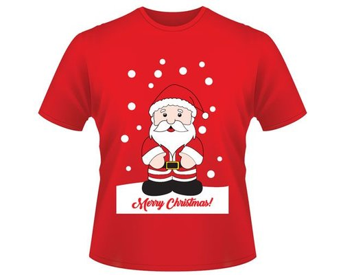 Decoware Kerst T-shirt Kerstman