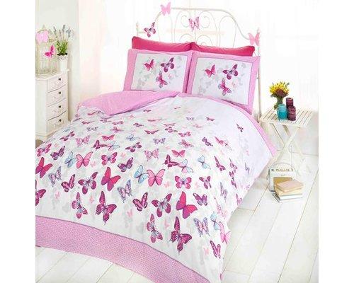 Made With Love Dekbedovertrek Vlinders roze