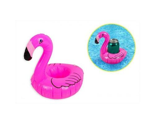 Opblaasbare drankhouder Flamingo