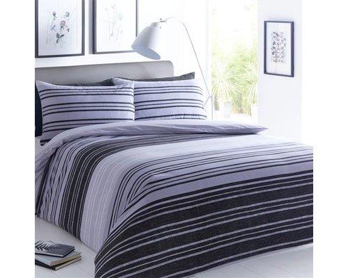 Decoware Dekbedovertrek Texture stripe grijs