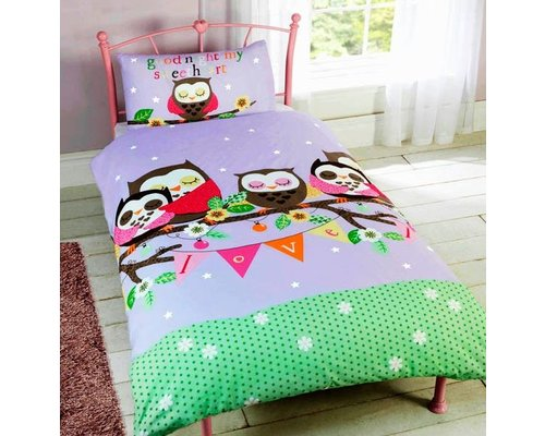 Decoware Dekbedovertrek Sleeping Owl