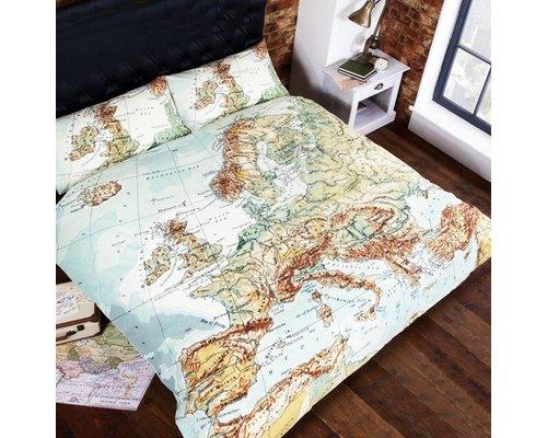 Dekbedovertrek Worldmap