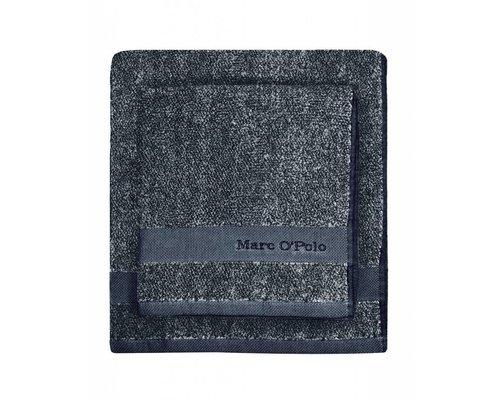 Marc O'Polo Washandje Melange marine/zilver