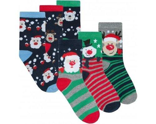 Kerst kindersokken (Per 3 paar)